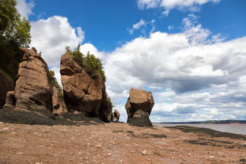 Flowerpot rocks of Hopewell, New Brunswick