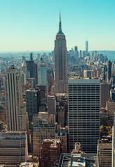 View of Manhattan skyline in New York