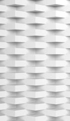 Corners over wall. Vertical 3d render