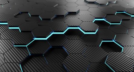 3d carbon background
