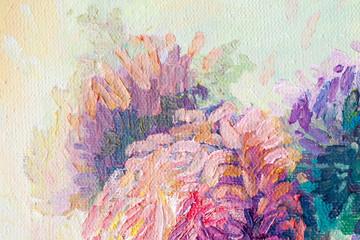 Artyści nafciani malują stubarwnego zbliżenie abstrakta tło