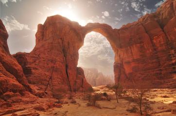 Łuk Aloba na pustyni Ennedi, Czad
