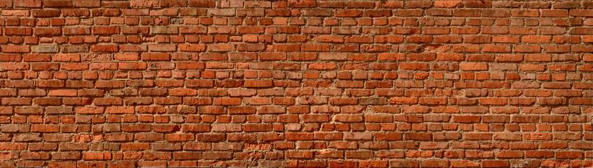 Brick wall panoramic background