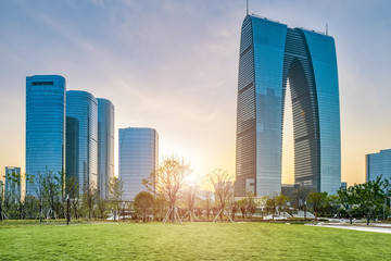 Suzhou CBD financial center skyscraper