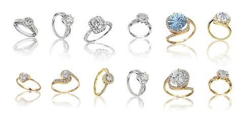 Zestaw pierścieni. Najlepszy ślub i pierścionek zaręczynowy
