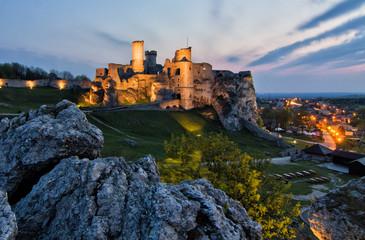 Ogrodzieniec ruins of a medieval castle. Czestochowa region, Poland.