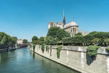 France,Paris, the City Island (l'Ile de la cite),the Notre Dame cathedral