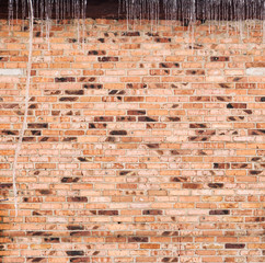 Texture of an old red  brick. vintage