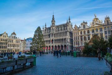 La Grand Place, Brussels main square during Christmas.