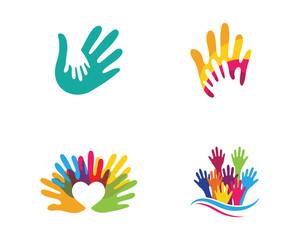 Hand Care Logo Template vector icon