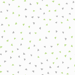 Repeated colored triangles drawn by hand. Geometric seamless pattern. Endless print for boys.
