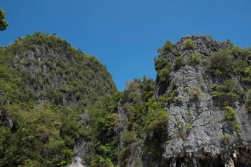 Limestone mountain, Ao Phang-nga National Park, Phang Nga, Thailand.