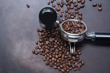 Coffee espresso machine instrument.