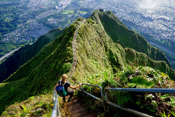 The Stairway to Heaven, Haiku Stairs, Oahu, Hawaii, The USA