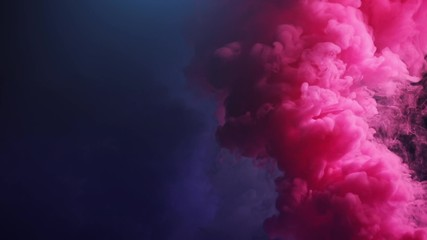 colorful smoke on black background.