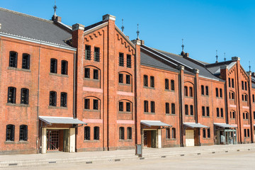 Yokohama red brick warehouse historical building landmark