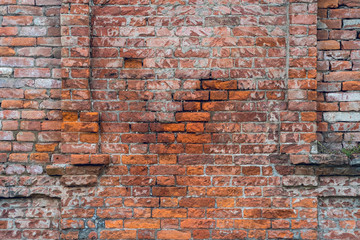 Brick old texture wall for background design
