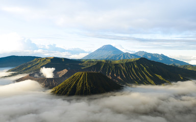 Bromo volcano in Indonesia on the island of Java at dawn