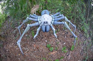 Gigantic dinosaur era arachnid replica