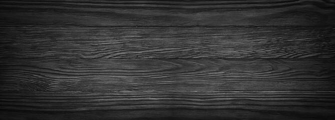 Ciemna czarna drewniana tekstura. panoramiczny Vintage rustykalny styl. drewno Naturalna powierzchnia