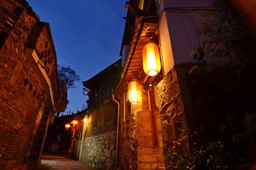 Lijiang  ancient town at night. Located inYunnan, China.