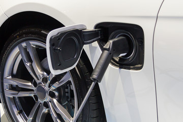 Electric Car Charger Connector close up background