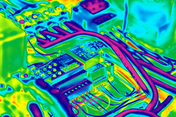 Electrical infrared thermography