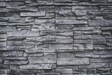 natural stone wall background - grey granite stone texture