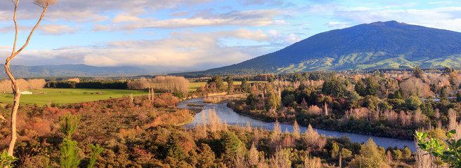 Picturesque landscape, Turangi, New Zealand