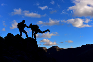challenging mountains and mountaineering cooperation