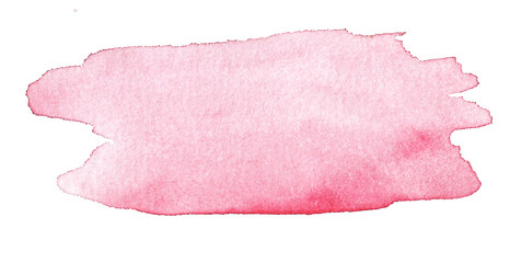 Hand drawn watercolor spot background color pink and blue