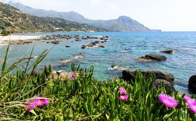 Entspannung, Ferien, Reise, Urlaub in Griechenland: Palmenstrand von Preveli auf Kreta :)