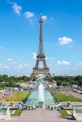 Eiffel Tower and Trocadero fountains, Paris, France