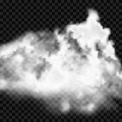 Realistic cloud or smoke for any background