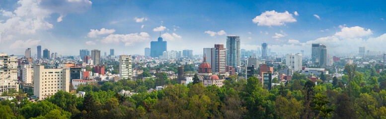 Panoramic view of Mexico city.