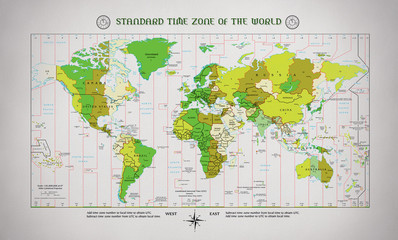 STANDARD TIME ZONE OF THE WORLD