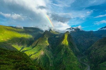 Rainbow over Cap Noir, Dos D'Ane, La Possession, Reunion Island