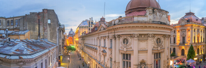 Bucharest Old Town at Dusk - Romania