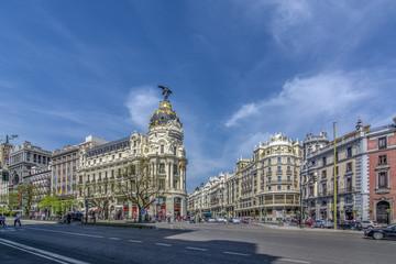 Famoso hotel Metropolis  en la Gran Via de Madrid