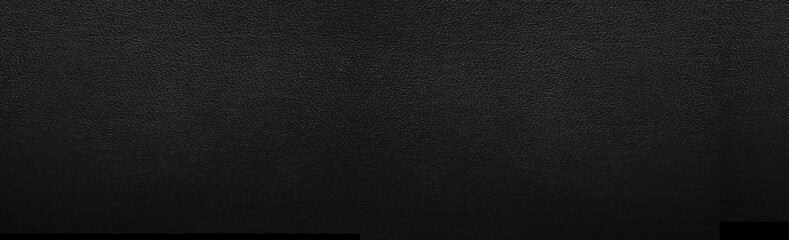 Panorama Czarna rzemienna tekstura i tło