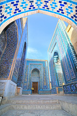 Shah-i-Zinda  necropolis in Samarkand, Uzbekistan.