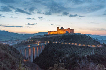 Spoleto (Italy) - The charming medieval village in Umbria region with the famous Duomo church, old castle and the ancient bridge named 'Ponte delle Torri'