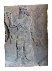 Assyrian art on the wall, King Ashurnasirpal II.