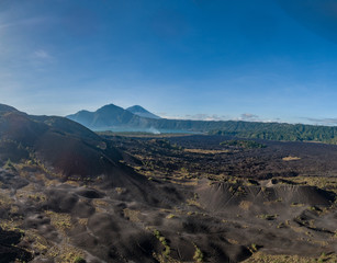 View of Batur lake and Mount Agung in Bali, Indonesia
