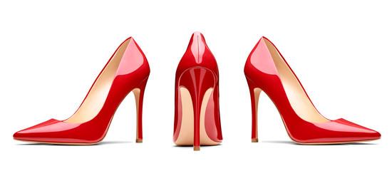czerwone buty na obcasie moda kobiecy styl