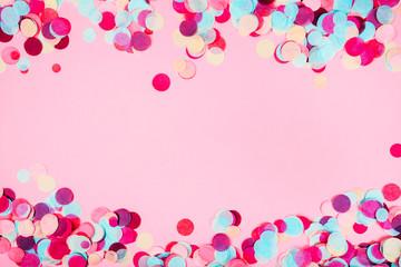 Colorful festive confetti