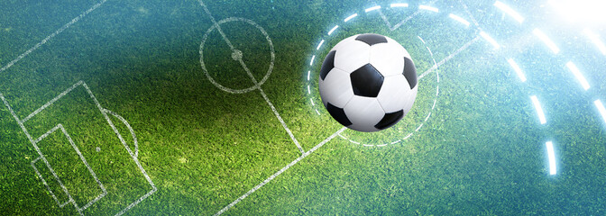 Piłka na boisku piłkarskim