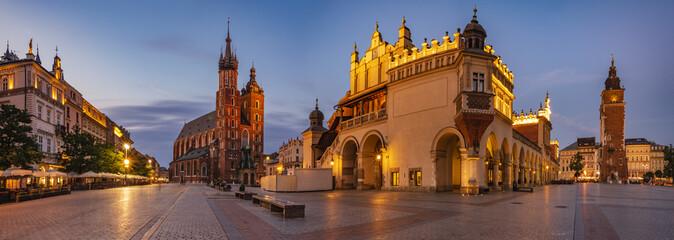 Krakowski Rynek, Polska - panorama