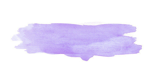 Watercolor brush stroke isolated