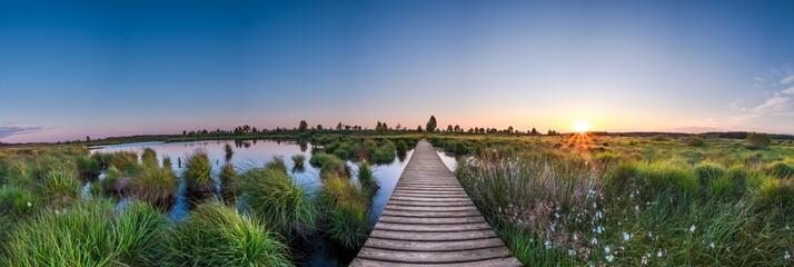 Hohes Venn - Sonnenaufgang Panorama